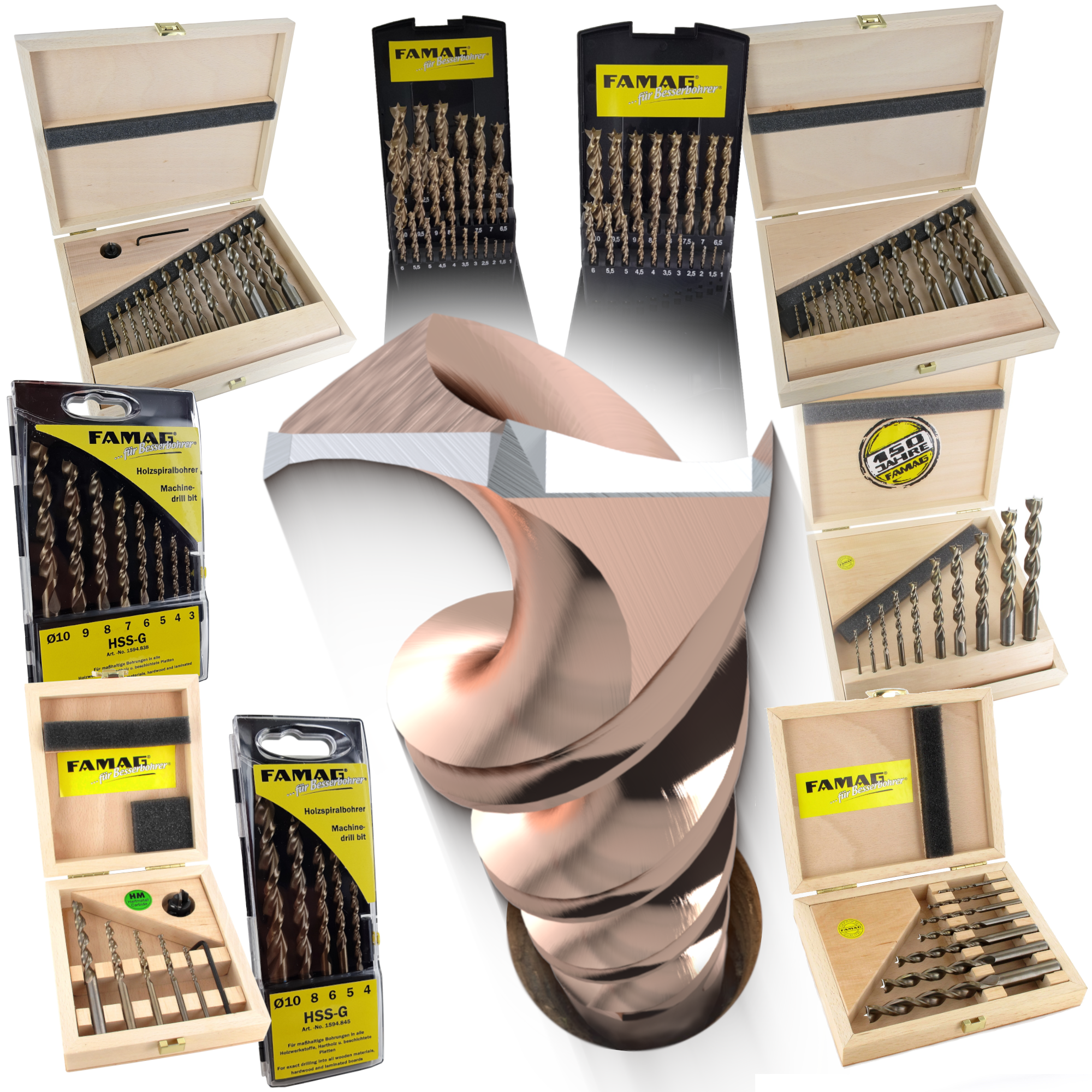FAMAG Bormax Stake Drill WS 15 x 57 x 90 mm Shank 10 mm with Cutting Edge 1624.015.00 15x57x90mm S=10mm eine Schneide